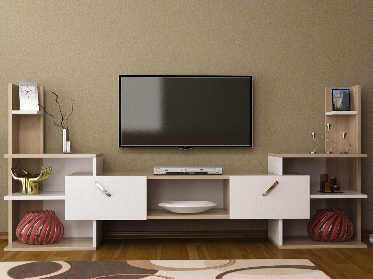Comoda TV HONOR, Gauge Concept, 182x33x90 cm, PAL, cordoba/alb