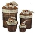 Set 4 cosuri Bear Bedora, salcie/material textil, multicolor