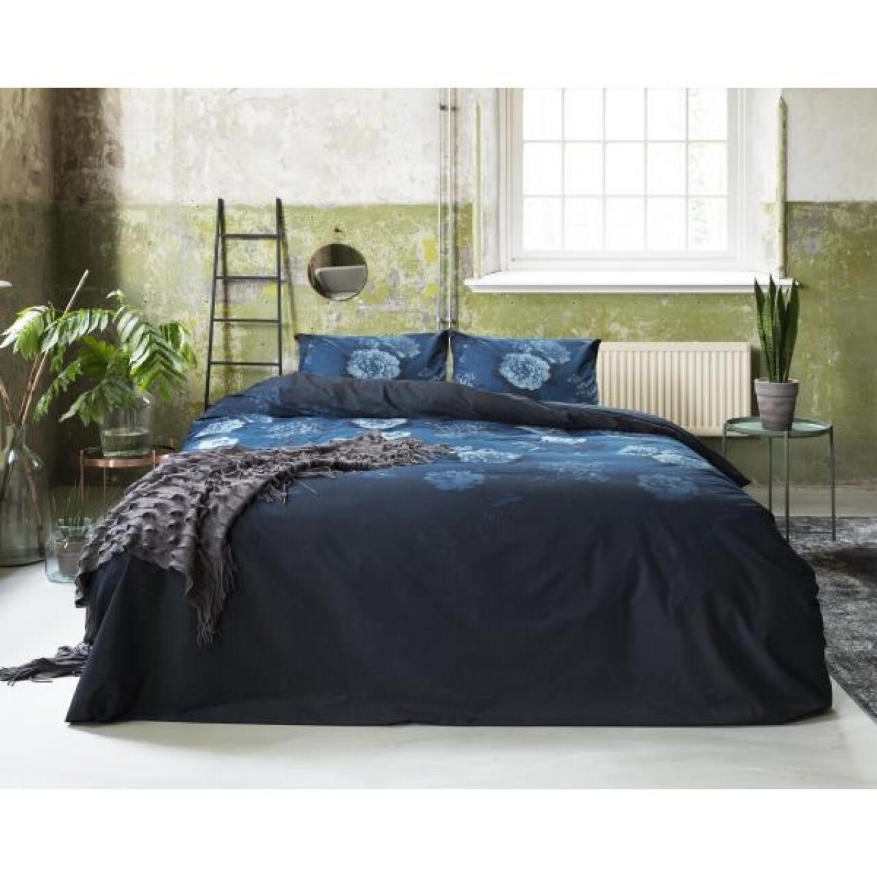 Lenjerie de pat dubla Blue Morning - Primavera Deluxe, Royal Textile, 3 piese, 240 x 260 cm, 100% bumbac, multicolor