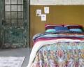 Lenjerie de pat pentru doua persoane Jetty Multi, Primaviera Deluxe, 100% bumbac satinat