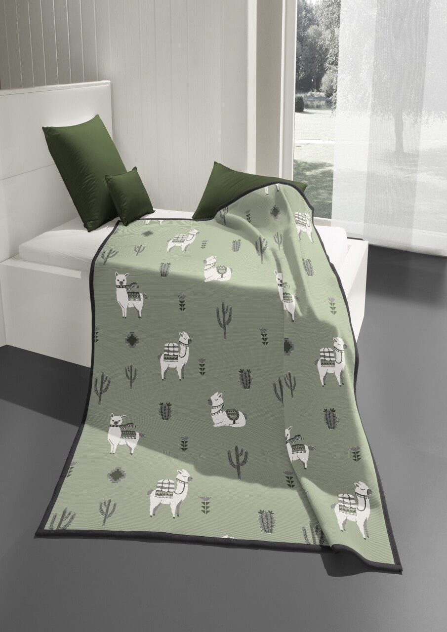 Patura Biederlack Cotton Home 8 Pako, 150x200 cm, verde