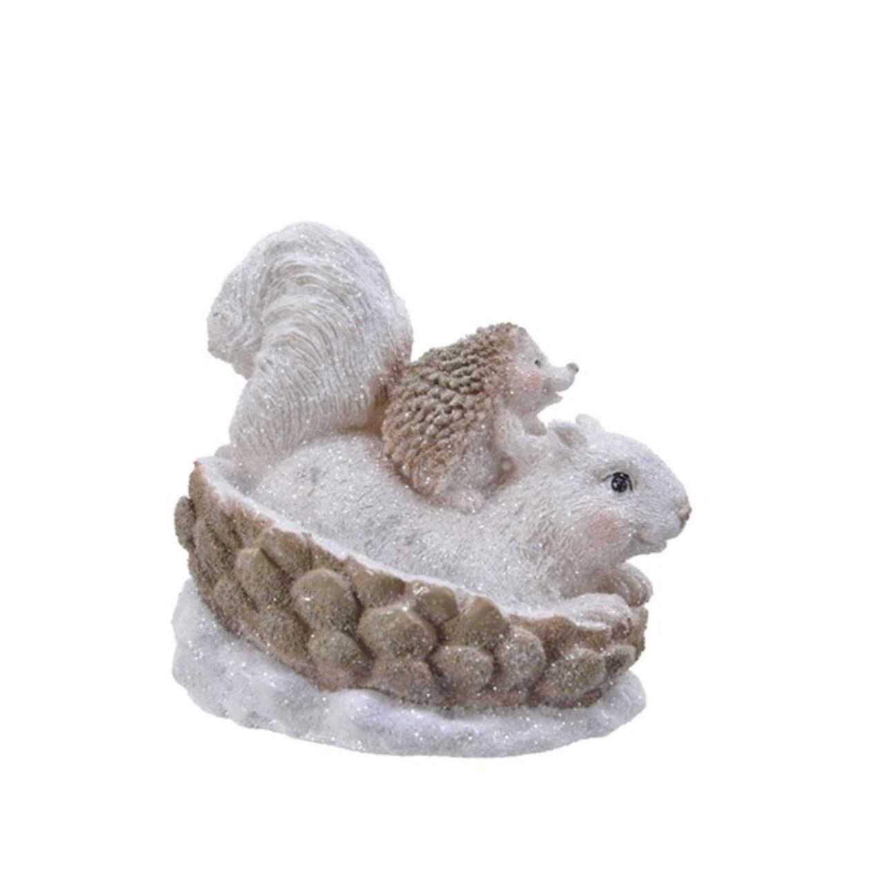 Decoratiune,  Decoris, Squirrel&Hedgehog, 9x11x10.5 cm