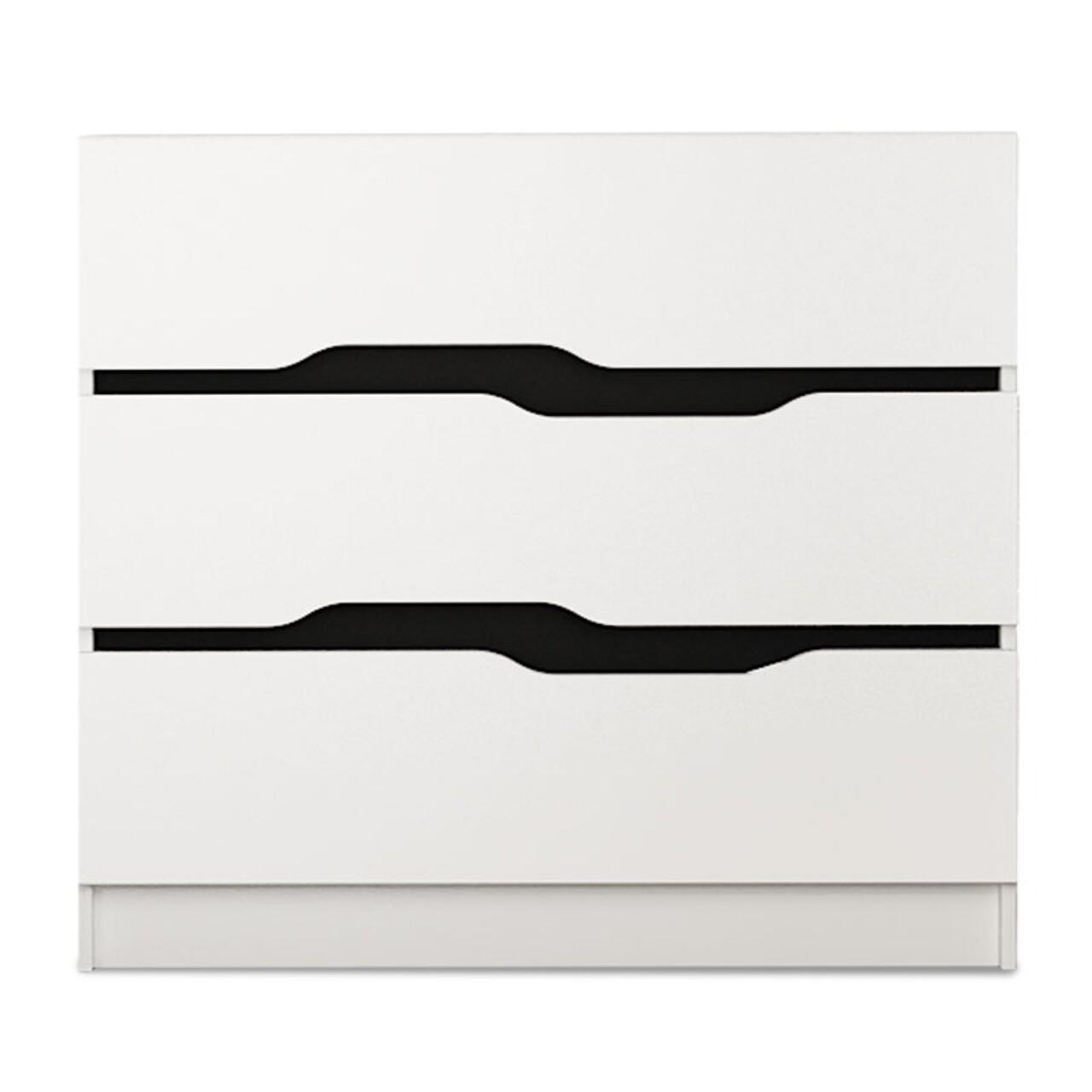 Comoda Comfy, Pakoworld, 100x38.5x71 cm, PAL melaminat, alb/negru