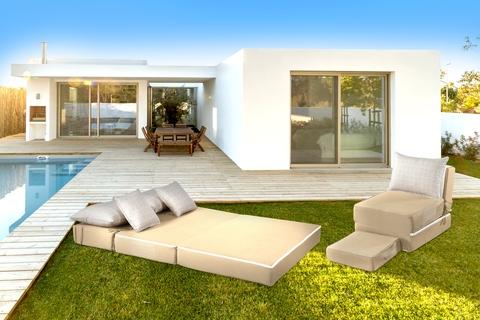 Canapea modulara Summer Breeze, 80x120x34 cm, Bej