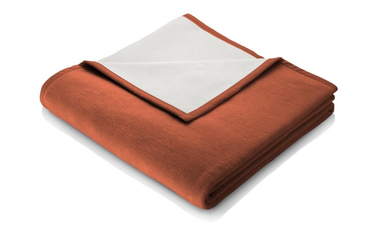 Patura Biederlack Modern Basic, 150x200 cm, portocaliu/crem