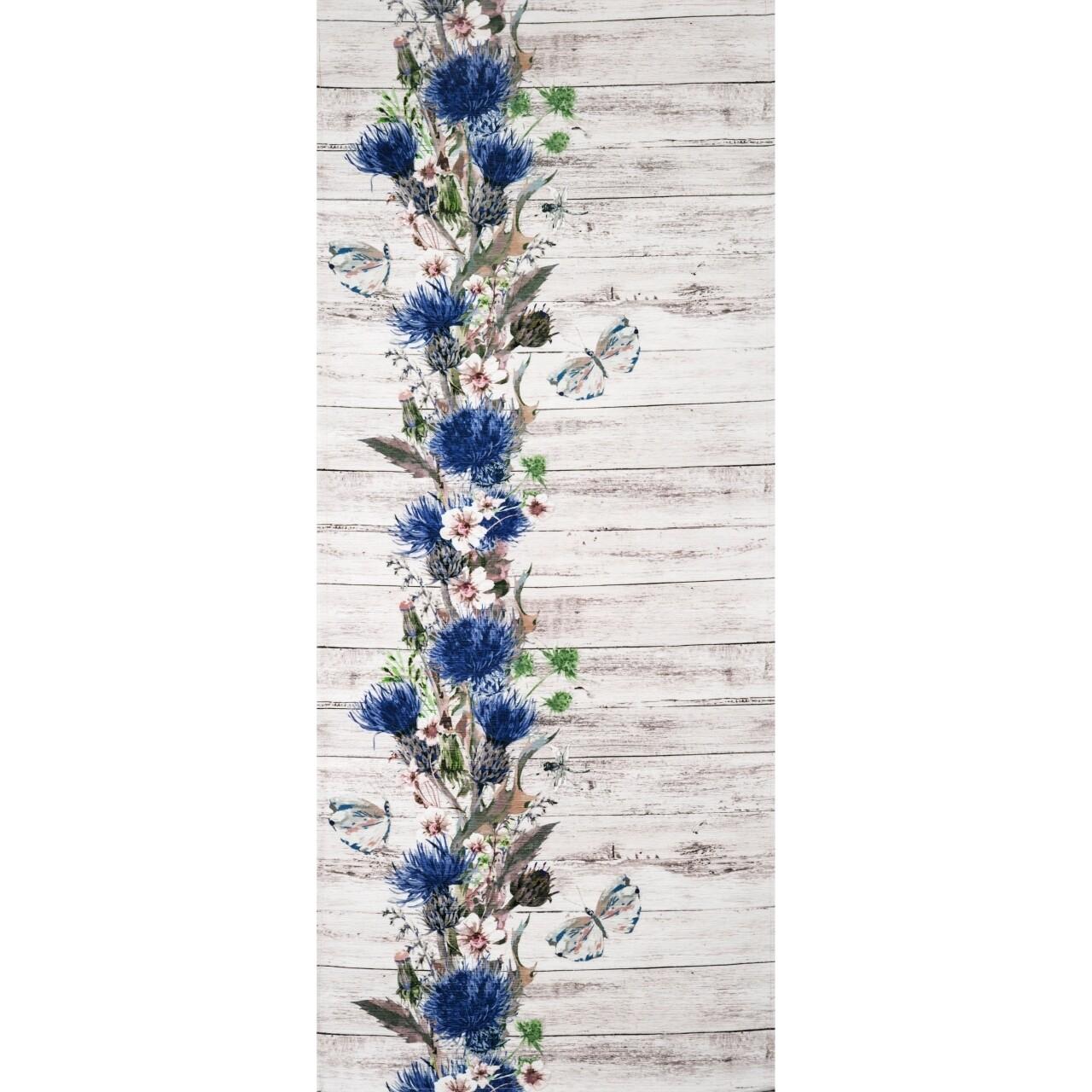 Covor rezistent Webtappeti Fiori Selvatici 58x115 cm, multicolor