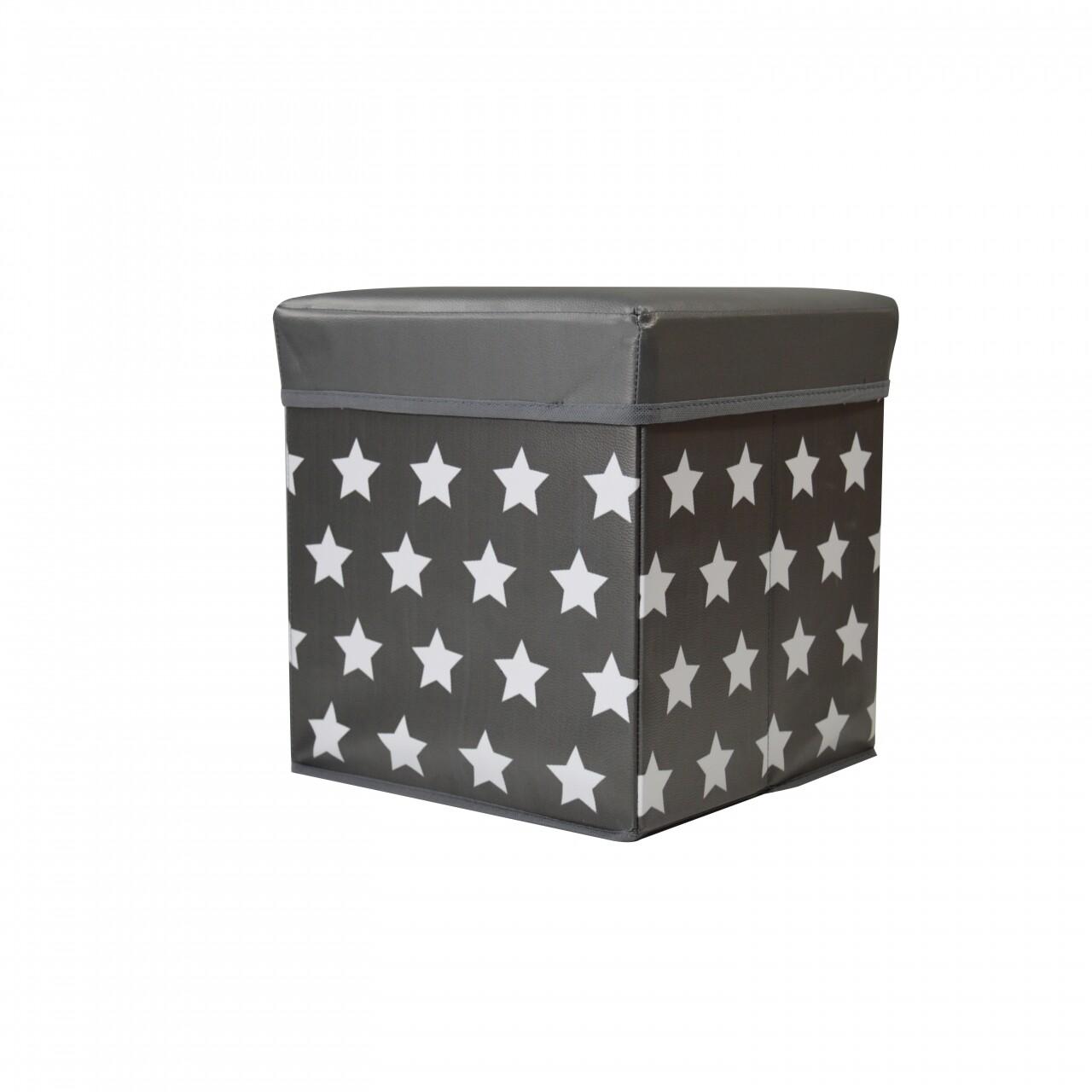 Cutie depozitare Jocca cu capac, Star, 30x30x30 cm