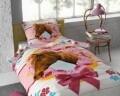 Lenjerie de pat pentru o persoana, Cute Horse Pink, Dreamhouse, 2 piese, 100% bumbac