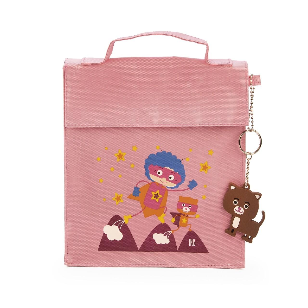 Geanta termoizolanta pentru pranz copii Kinder SnackRico, Iris Barcelona, 18x8x21 cm, poliester, roz