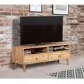 Set mobilier living 2 piese, comoda si comoda TV, Motto 2-200, Vella, atlantic pine