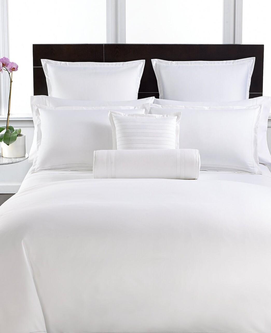 Lenjerie de pat pentru o persoana, Boutique Satin, Luxury, 3 piese, 100% bumbac egiptean satinat, TC 400, 160 gr/mp, alb