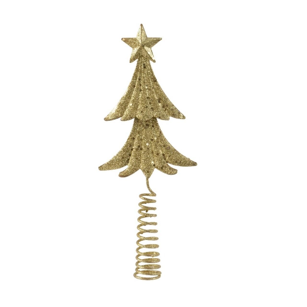 Varf decorativ pentru brad Tree, Decoris, auriu