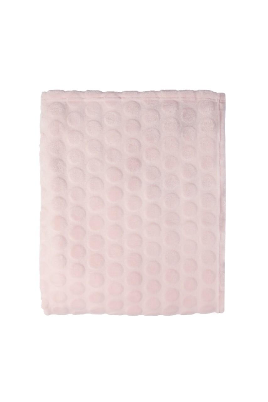 Patura Mistral Flannel plaid combo, Soft Dots, 130x170 cm