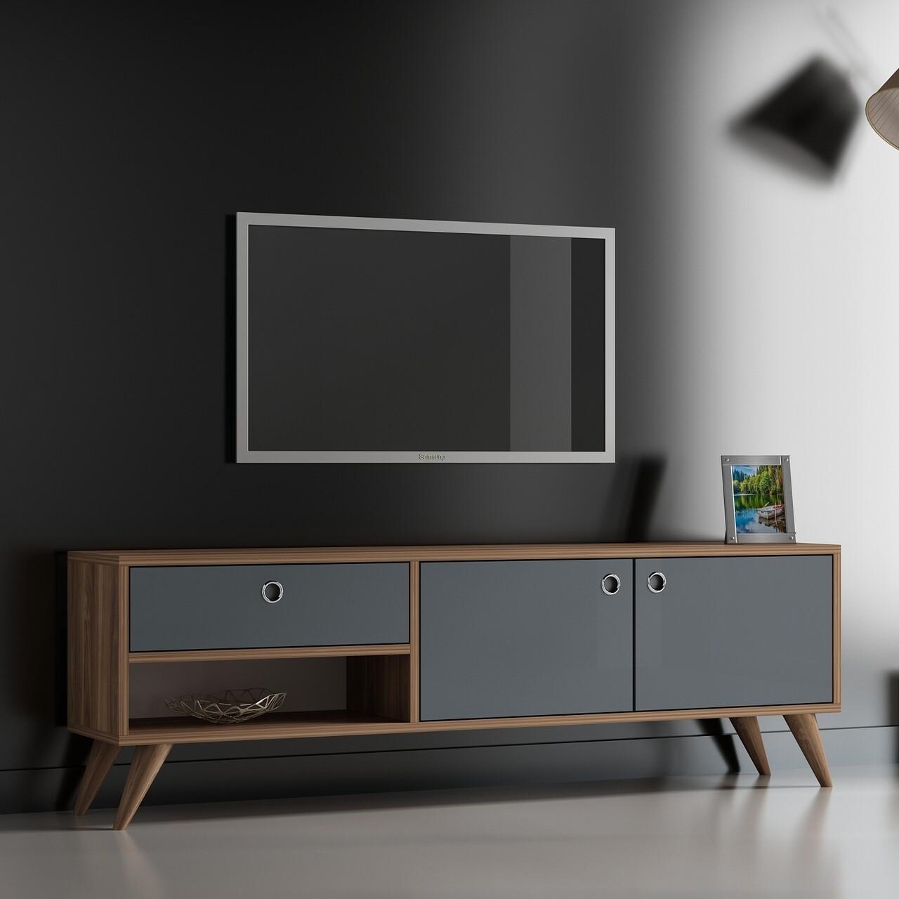 Comoda TV CELESSE, Gauge Concept, 150x30x48 cm, PAL, aluna/antracit