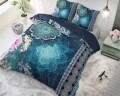 Lenjerie de pat pentru doua persoane Luna Blue, Royal Textile,100% bumbac