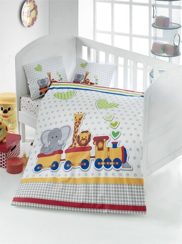 Lenjerie de pat pentru copii, Victoria, Madagaskar, 4 piese, 100% Bumbac ranforce