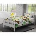 Lenjerie de pat pentru o persoana, Small Zoo White, Royal Textile, Flannel