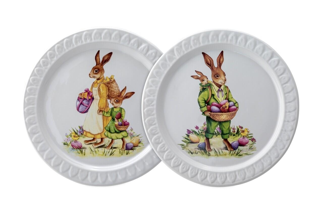 Set 2 farfurii Rabbit, Hermann Bauer, Ø 23,5 cm, portelan