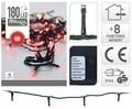 Instalatie de Craciun, 180 LED-uri, rosu