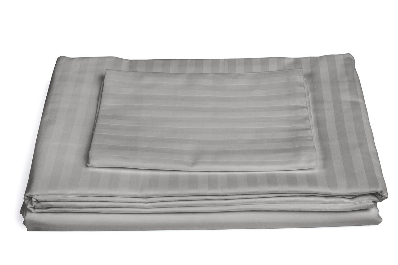 Lenjerie de pat, 2 persoane, 100% Bumbac egiptean, 4 piese, bej