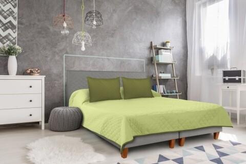 Cuvertura matlasata cu 2 fete Alcam, 220 x 240 cm, Olive/Lime