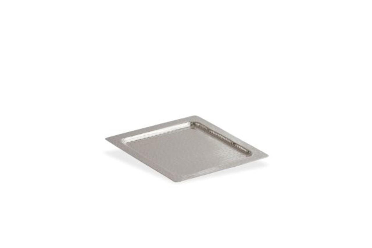 Tava Square Shape, Hermann Bauer, 30x30x2 cm, aluminiu, argintiu