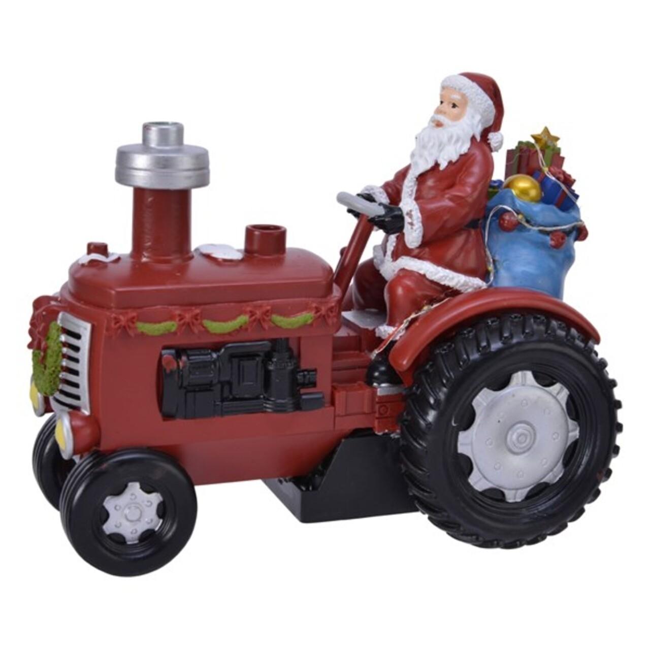 Decoratiune luminoasa Tractor, Lumineo, 7 LED-uri, 19x15 cm, multicolor