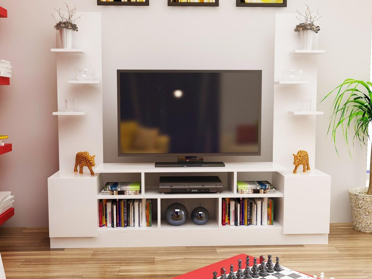 Comoda TV TOMARA, Gauge Concept, 180x31x150 cm, PAL, alb