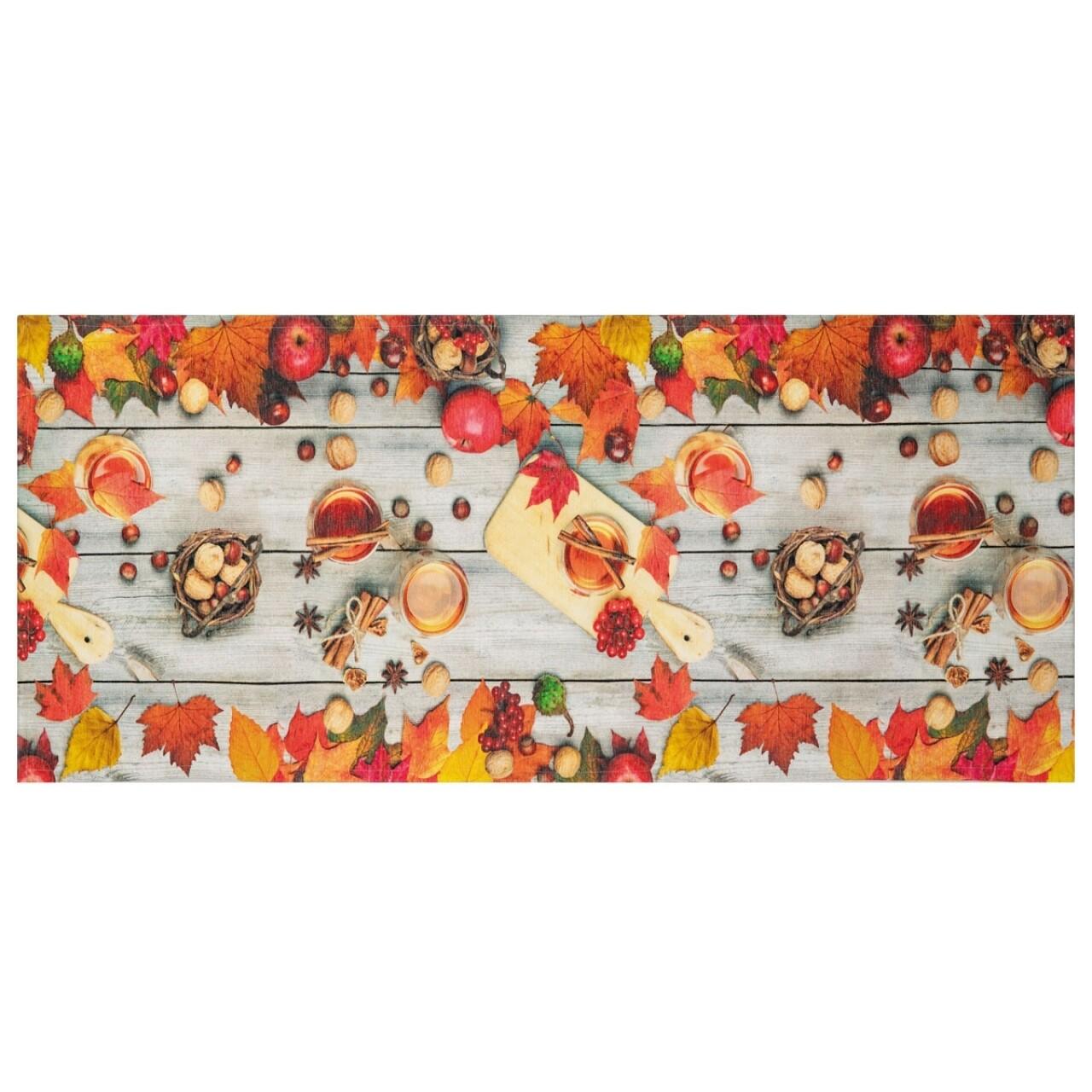 Covor rezistent Webtappeti Rum e Canella 58 x 240 cm, portocaliu/gri