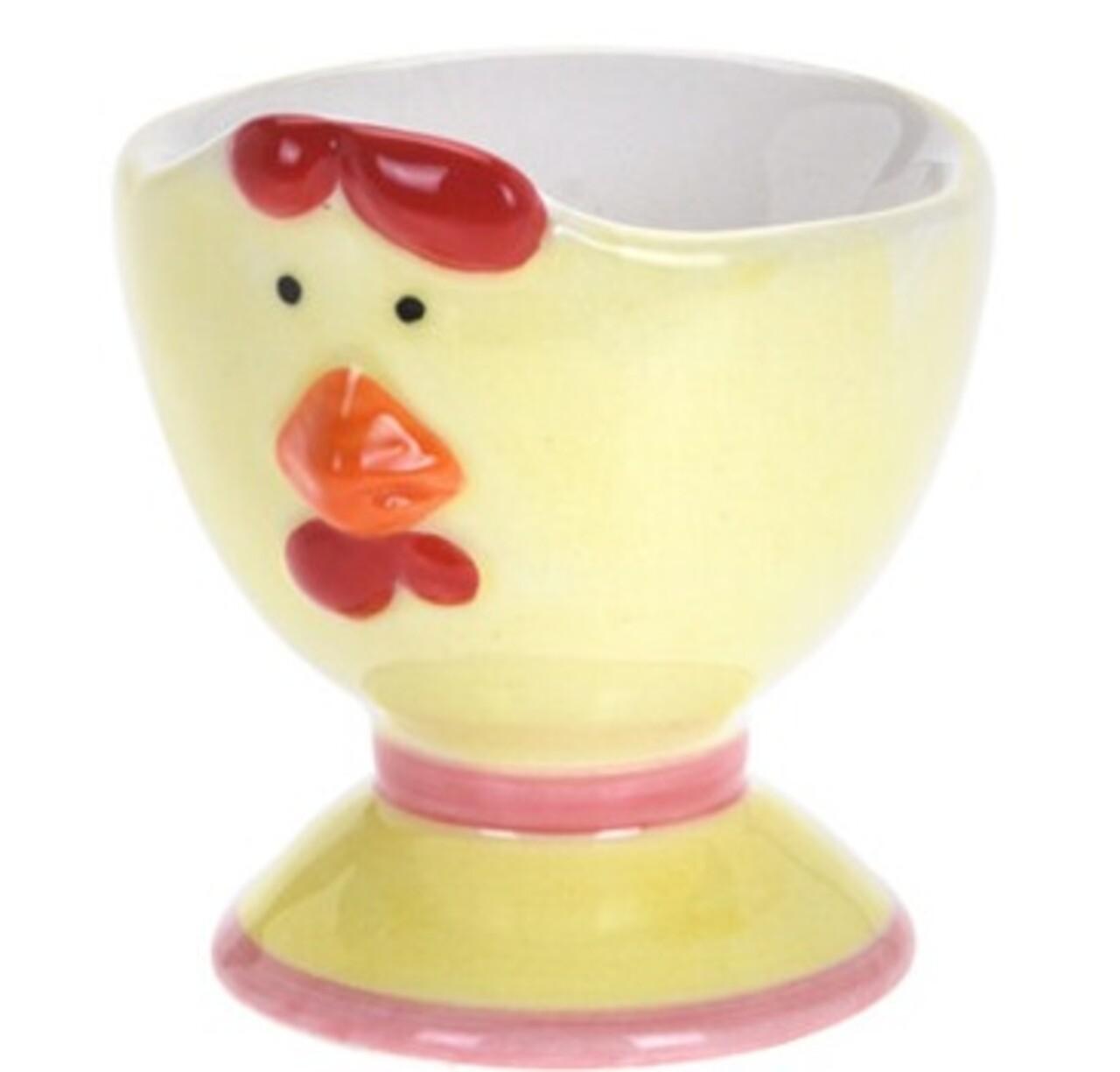 Suport pentru ou Chicken,  6x7 cm, dolomita, multicolor