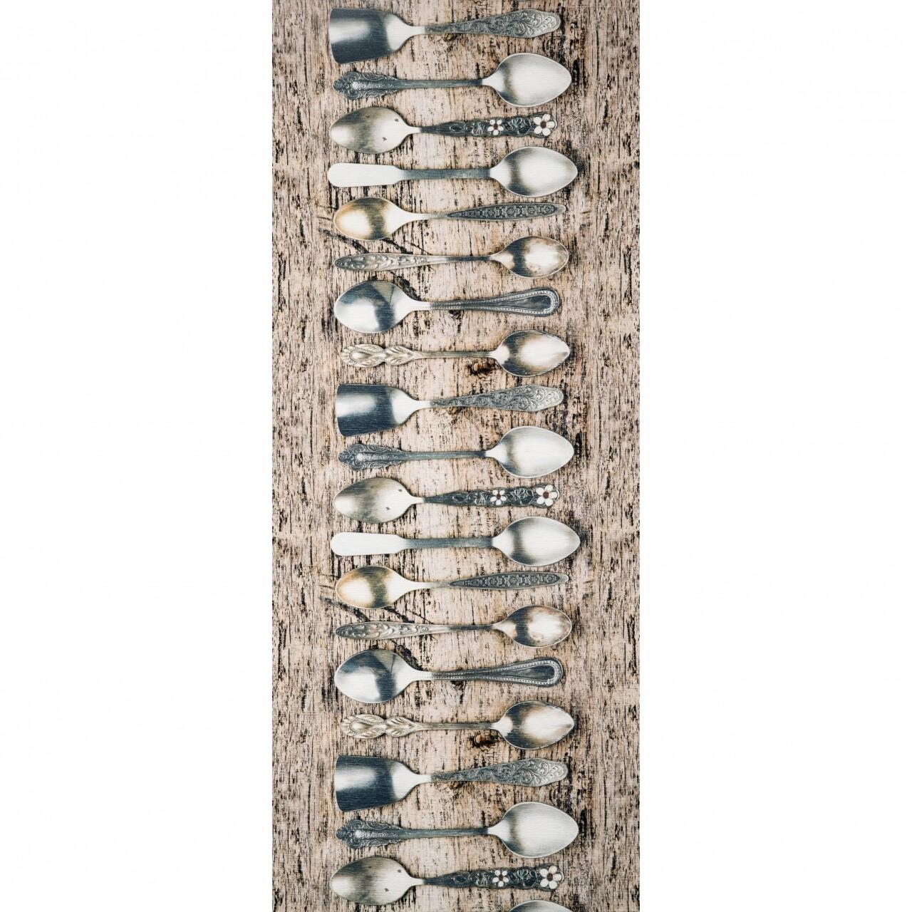 Covor rezistent Webtappeti TEA CM 58x240 cm, gri/bej
