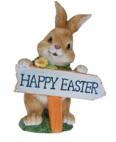 Decoratiune Happy Easter, 13.5x8x18.5 cm, multicolor