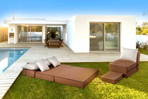 Canapea modulara Summer Breeze, 80x120x34 cm, Maro