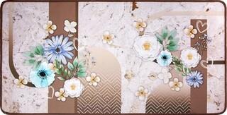 Covor pentru bucatarie, Olivio Tappeti, Miami 3, Flowers, 50 x 100 cm, poliester, multicolor