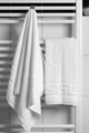 Set 2 prosoape, Hotel Line, Bedora, 70 x 140 cm, 100% bumbac cardat, 500 gr/mp, alb