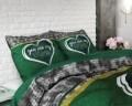 Lenjerie de pat pentru doua persoane Home Green, Royal Textile,100% bumbac