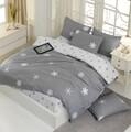Lenjerie de pat pentru doua persoane, EnLora Home, Janes, 100% bumbac ranforce, 4 piese, gri