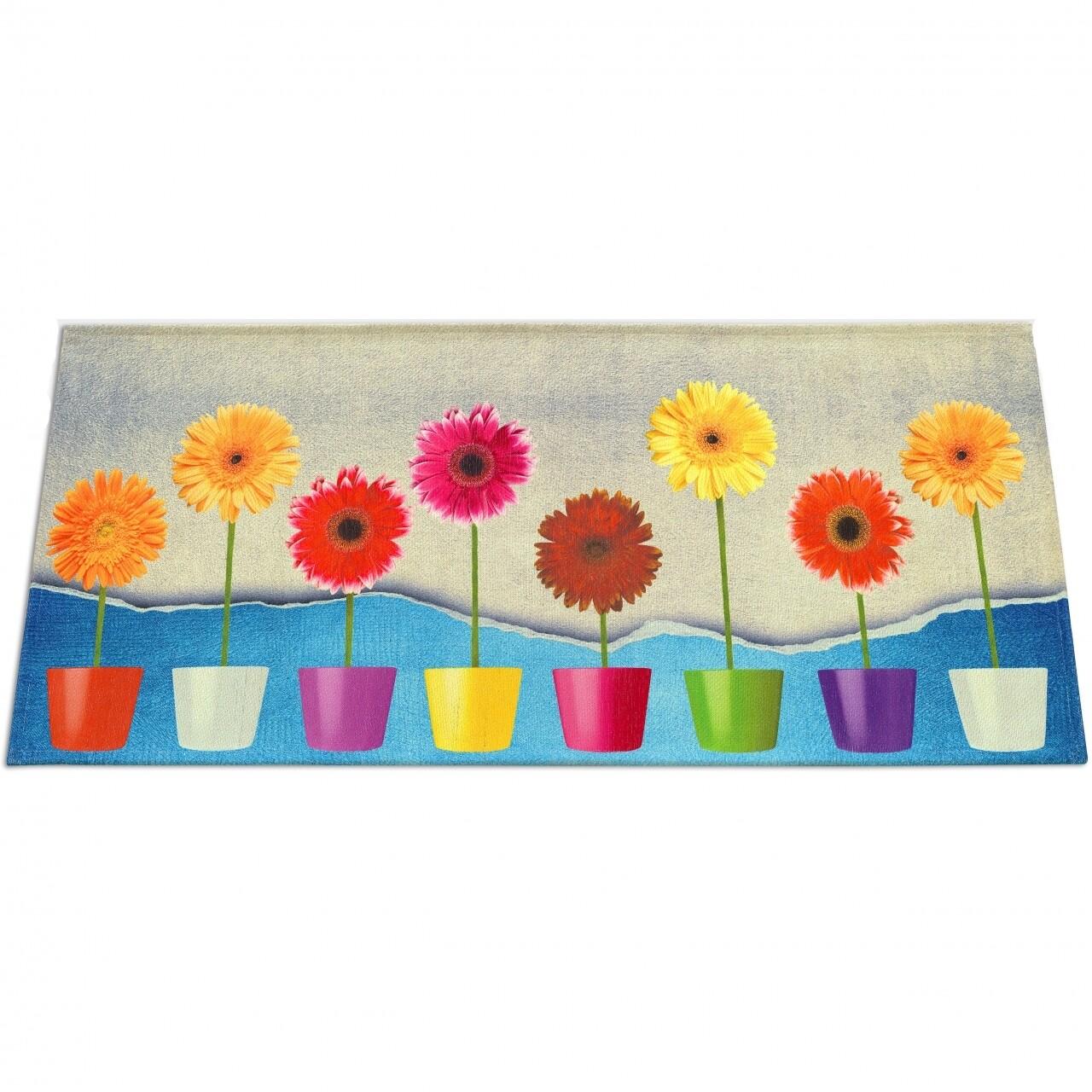 Covor rezistent Webtappeti Flower Power 60 x 140 cm, multicolor