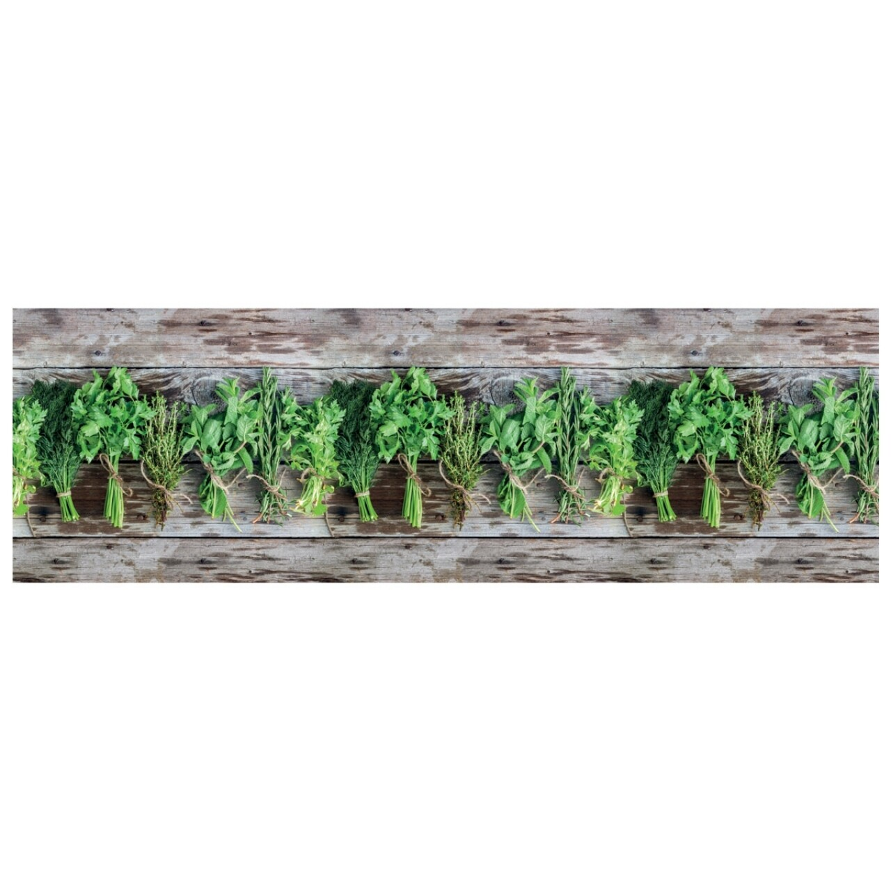 Covor rezistent Webtappeti Aromatica 58 x 190 cm, maro/verde