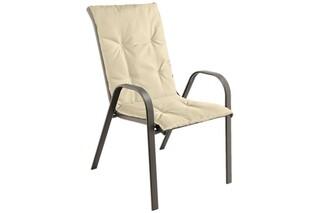Perna scaun cu spatar Alcam, Midsummer, 105x48x3 cm, material impermeabil, Bej
