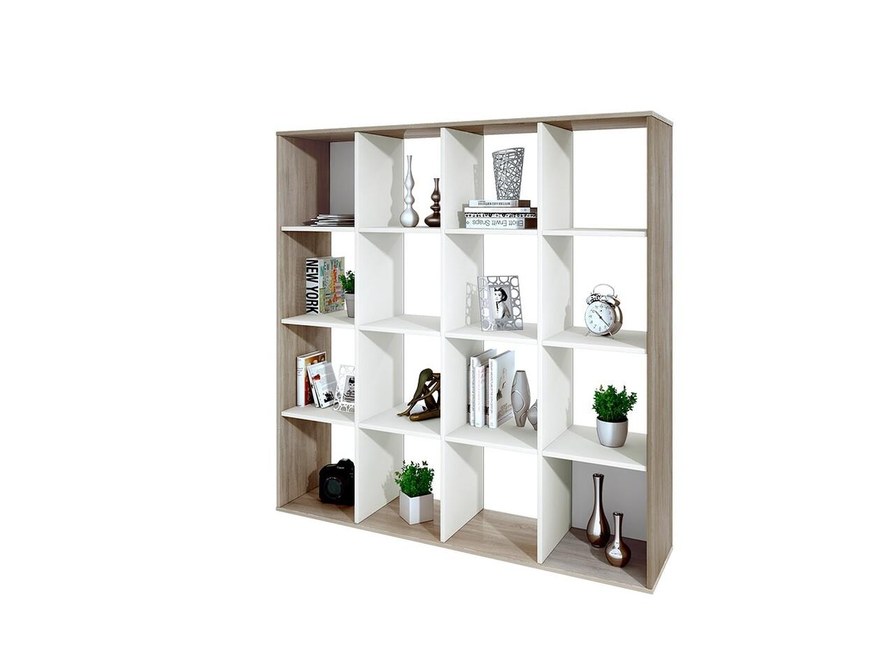 Biblioteca, Bedora, City 6228, 137.5 x 33 x 143.5 cm, PAL, bej/alb