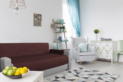 Husa matlasata cu doua fete Alcam pentru canapea 3 locuri Chocolate/Vanila