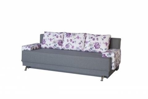 Canapea Extensibila Roma Grey Purple Flower 205x90x86 cm + lada de depozitare