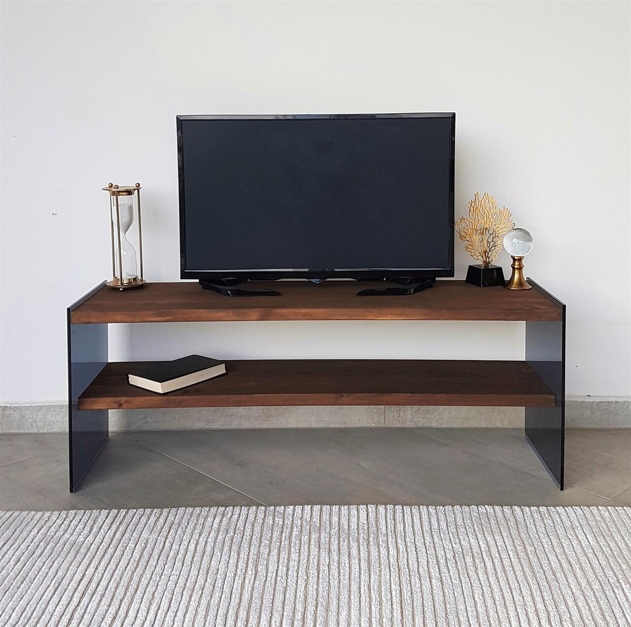 Comoda TV Neostill TV100, 120 x 35 x 45 cm, walnut