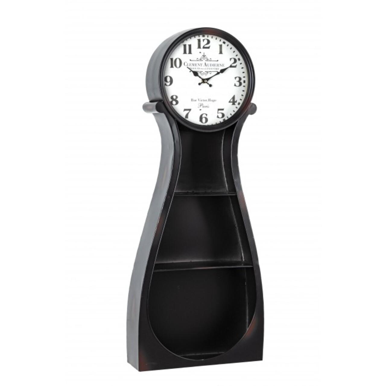 Cabinet cu ceas, Roland, Bizzotto, 38.5x12x98 cm, otel, negru