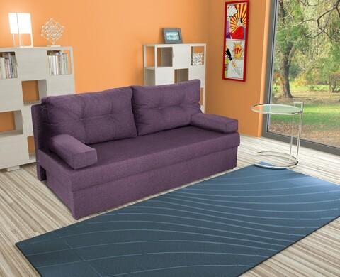 Canapea extensibila Alfi 192x80x77 cm cu lada de depozitare, Purple