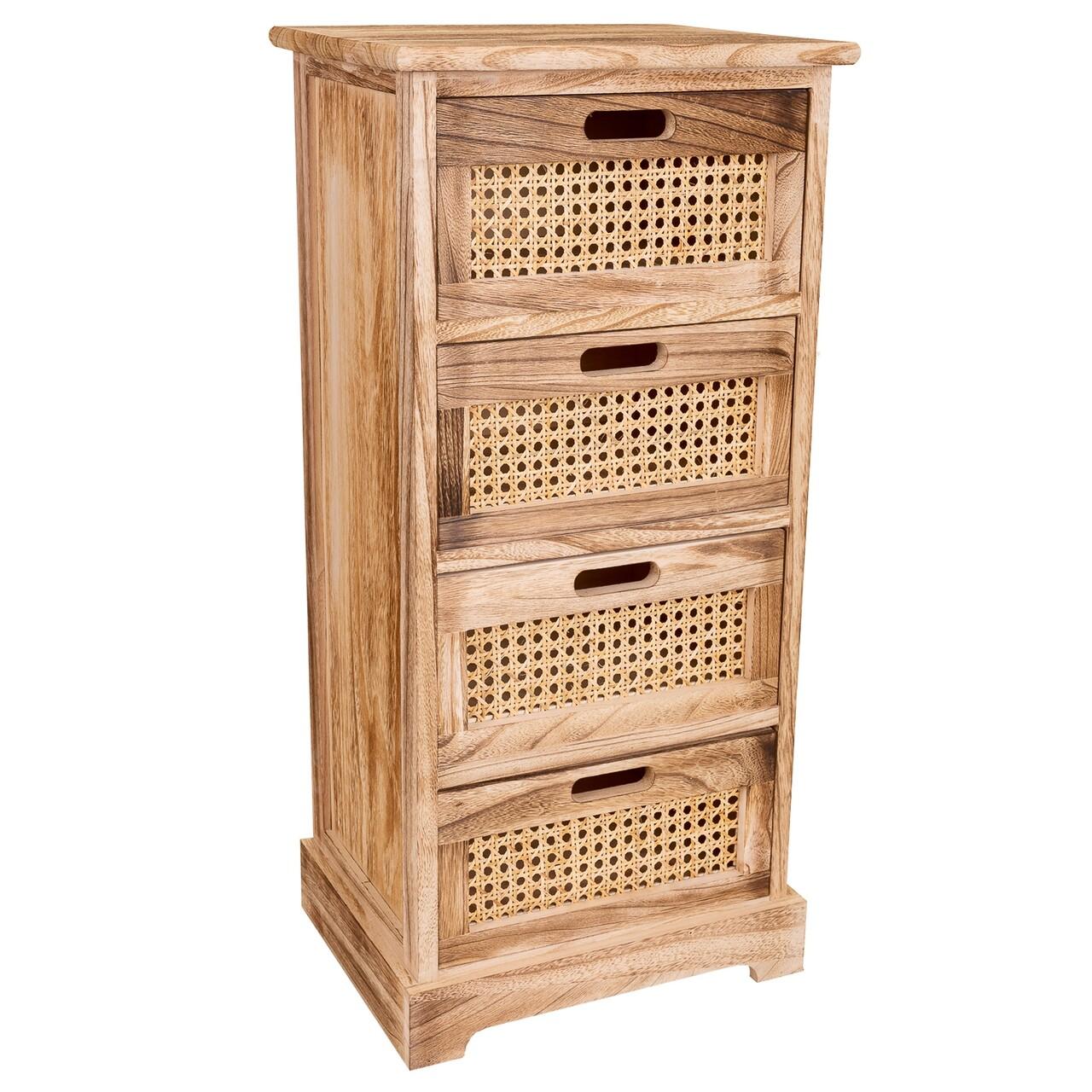 Comoda Mason Baked, Creaciones Meng, 35x29x91 cm, lemn de paulownia