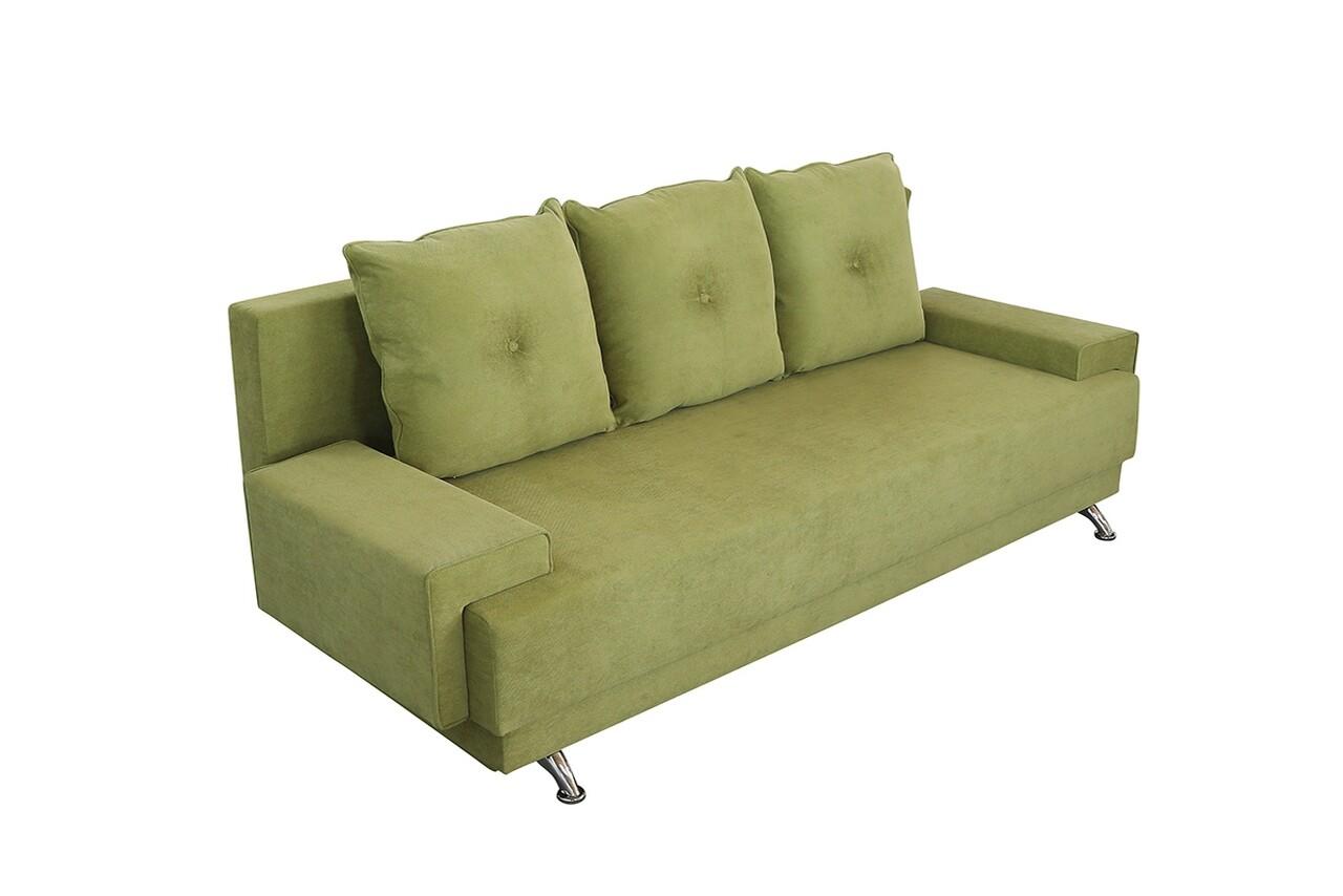 Canapea extensibila Roma Lux Green 205 x 90 x 86 cm, cu lada de depozitare
