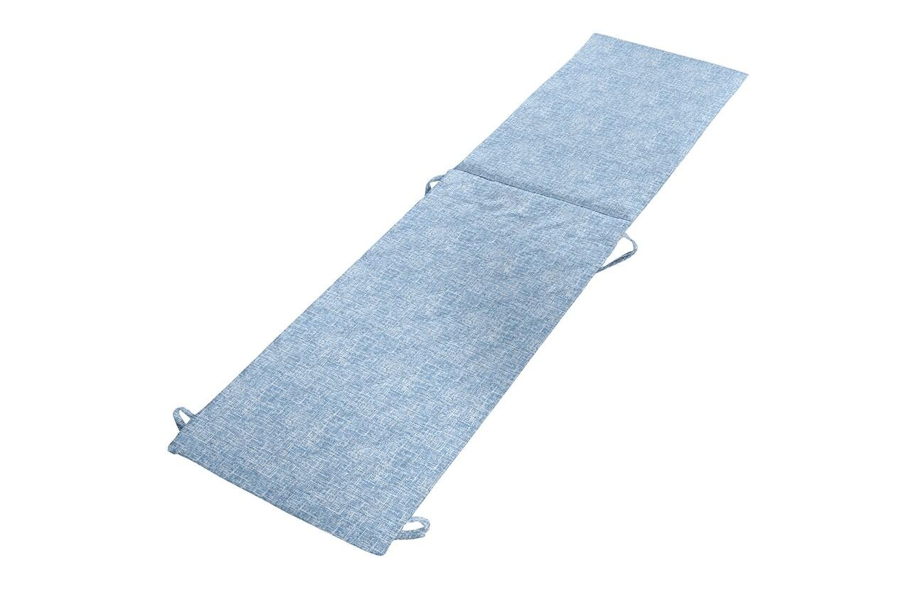 Perna sezlong Alcam, Midsummer, 195x50x3 cm, microfibra matlasata, Blue Jeans