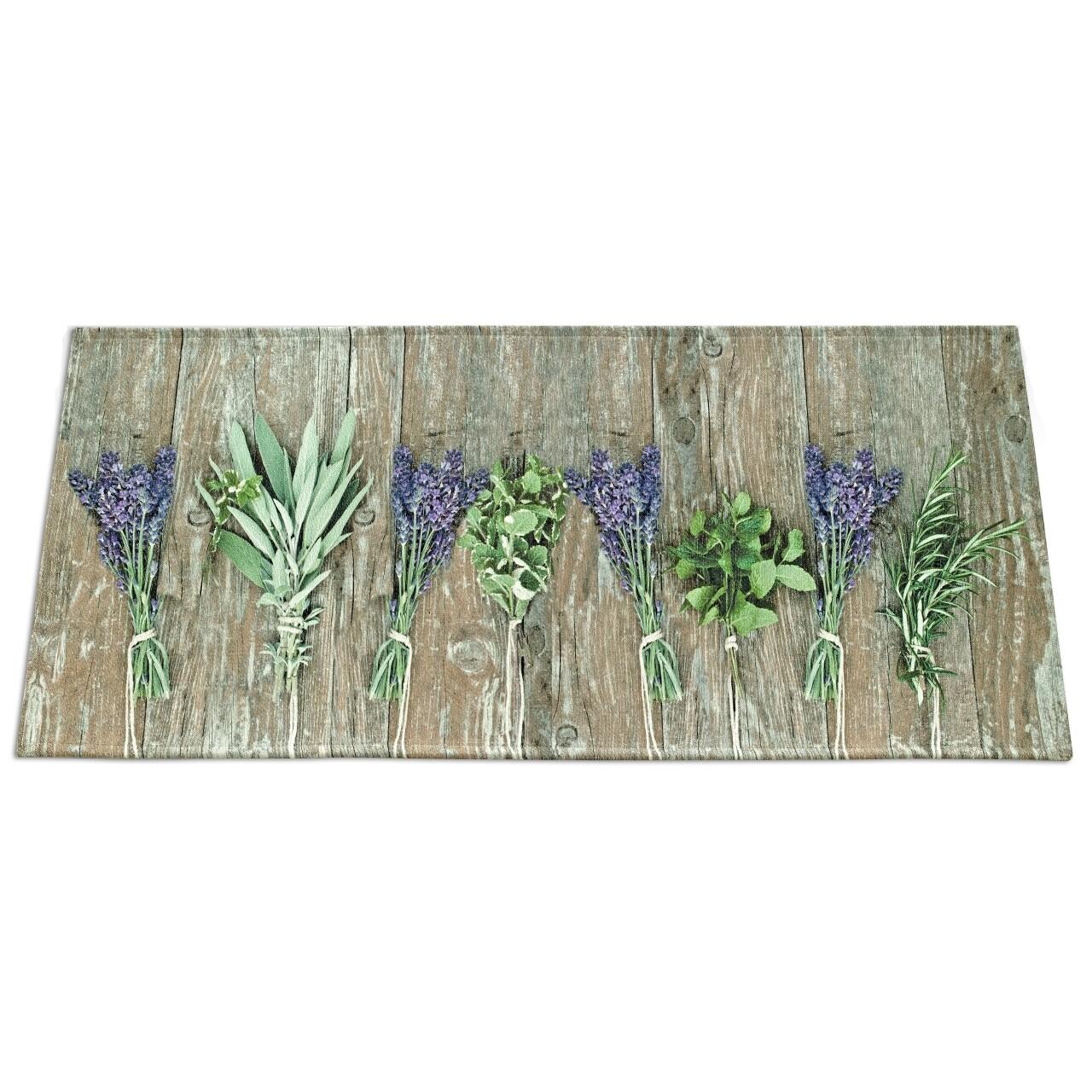 Covor rezistent Webtappeti Lavender 60x140 cm, bej/verde